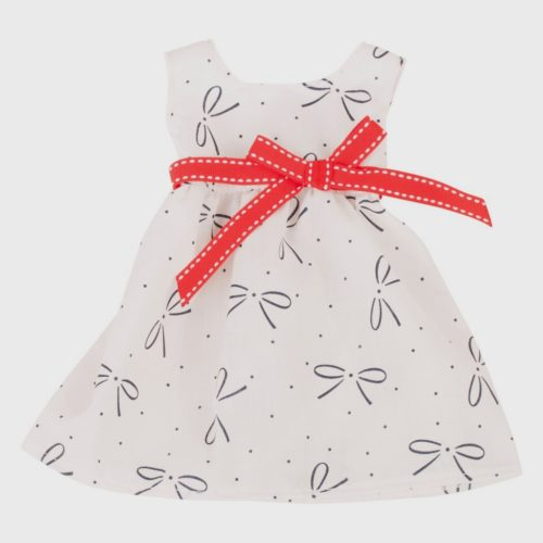 gotz basics cream bow summer dress