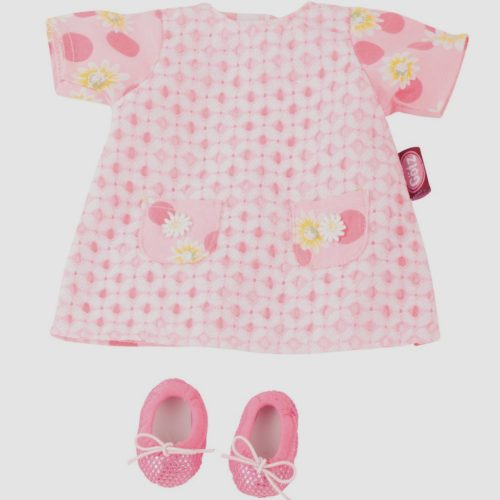 gotz pink daisy summer dress and shoes