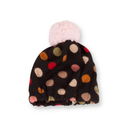 gotz black spotty bobble hat