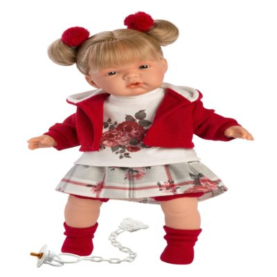llorens joelle crying baby girl doll 38cm