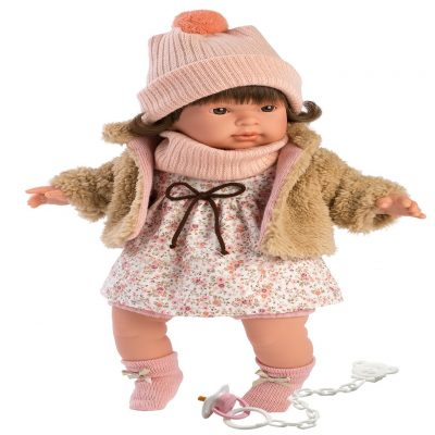 llorens pippa crying baby girl doll