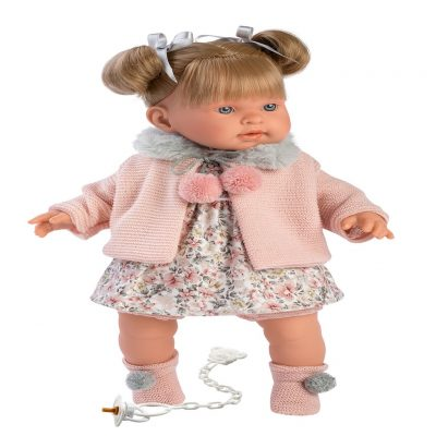 llorens alexandra blonde crying baby girl doll