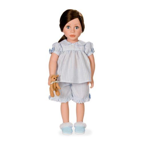 bonnie & pearl blue stripey pyjama set