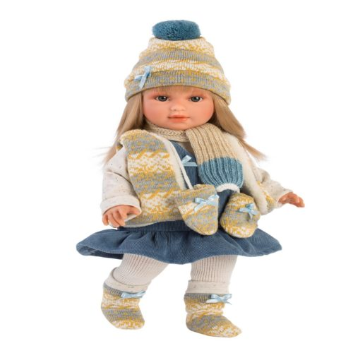 llorens tina 40cm soft bodied girl doll