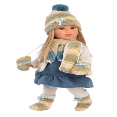 llorens tina 40cm soft bodied girl doll
