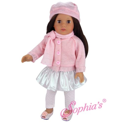 sophia's pink and silver skirt
