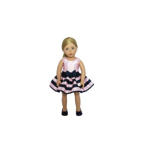 bonnie and Pearl pink stripey dress