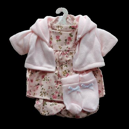 Llorens dolls clothes pink flower dress