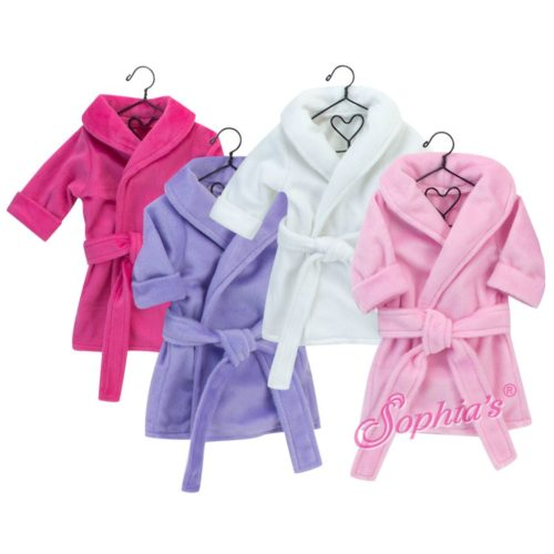 hot pink dressing gown