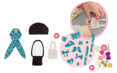 Corolle Bags and HAT SET FOR MA CHERIE CREATION DOLL