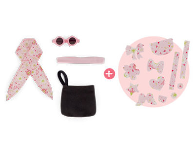 Corolle Hair and Bag Accessory set