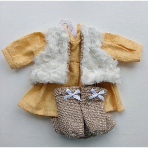 llorens dolls clothes yellow dress set